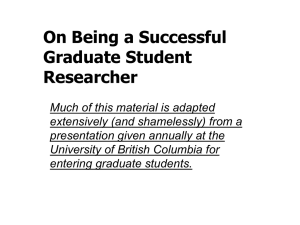 On being a graduate student