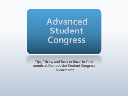 Advanced Student Congress