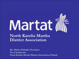 Martha District Association