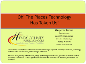 Vision: Henry County Public Schools where critical thinking is