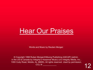Hear Our Praises - Missionundergrace.us