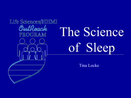 The Science of Sleep - Life Sciences Outreach at Harvard University