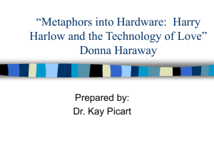 Metaphors into Hardware: Harry Harlow and the Technology of Love