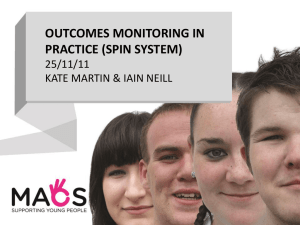 outcomes monitoring in practice (spin system)