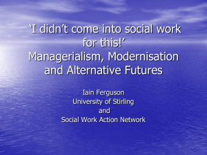 Reclaiming Social Work: Challenging the Market and Inequality