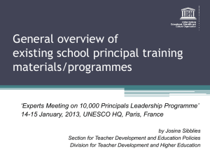 Leadership Training Plan-UNESCO Perspective