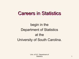 Statisticians Rule! - Department of Statistics