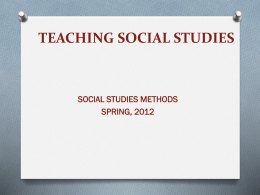 TEACHING SOCIAL STUDIES - Faculty.UsiouxFalls.edu