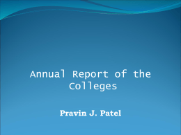 Annual Report Presenatation