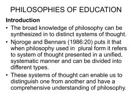 1294990622Philosophies of Education