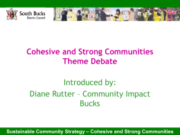 Sustainable Community Strategy – Cohesive and Strong
