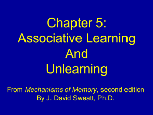 Chapter 5. Associative learning and unlearning