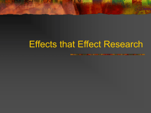 Effects that Effect Research ppt.