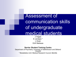 Assessment of the verbal communication skills of medical