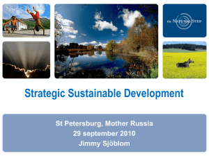 Strategic Sustainable Development