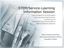 STEM/Service-Learning Information Session