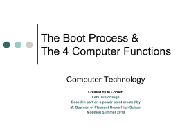 Boot Process ppt