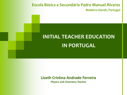 Initial Teacher Education in Portugal