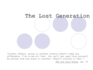 PPT-The Lost Generation
