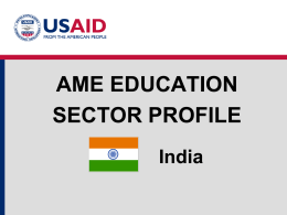 Education Sector Profile- India