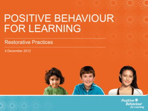PB4L_Restorative Practices - Resource Teacher: Learning and