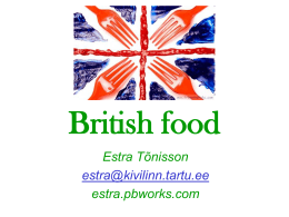 British food - estra