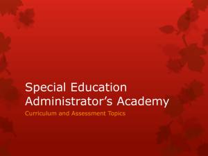 Special Education Administrator`s Academy