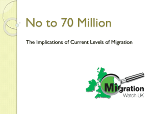 No to 70 Million - Migrationwatch UK