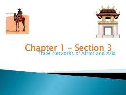 Section 3: Trade Networks of Asia and Africa, pages 16-19