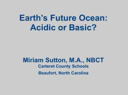 Earth`s Future Oceans PowerPoint