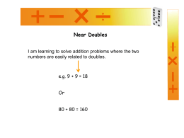 Near doubles - Teacher Tools