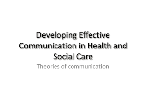 Developing Effective Communication in Health and
