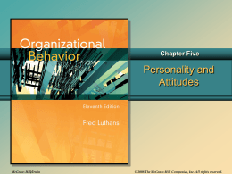Chap005 - Organizational Behavior