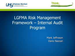 LGFMA Presentation - Internal Audit Program Model
