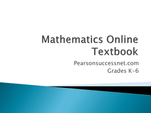 Mathematics Online Textbook