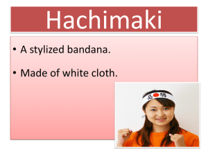 Hachimaki - Japanese Teaching Ideas