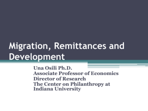 Migration, Remittances and Development in Nigeria