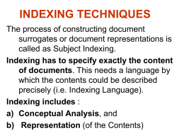 Types of Indexing Techniques