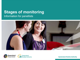 Stages of Monitoring (PPT, 3264 kB )