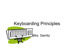 Keyboarding Principles