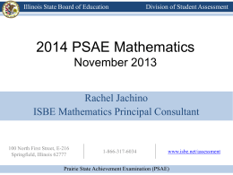 2014 PSAE Mathematics - Illinois State Board of Education