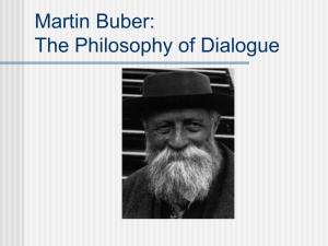 Martin Buber: The Philosophy of Dialogue