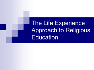 The Life Experience Approach to Religious Education