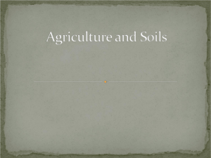 Agriculture and Soils