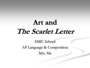 Art and The Scarlet Letter