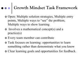Growth Mindset Task Framework Presentation