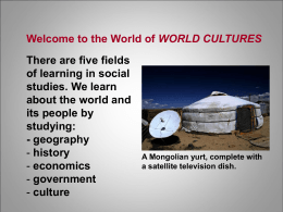 Welcome to the World of WORLD CULTURES