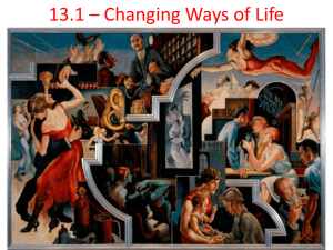13.1 – Changing Ways of Life