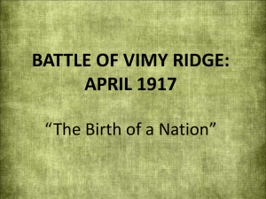 Battle of Vimy Ridge: April 1917