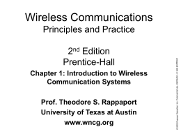 Wireless Communications Principles and Practice